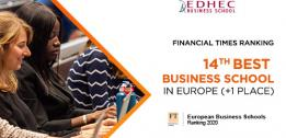 Financial Times European Business Schools Ranking: EDHEC rises through the ranks of Europe's top 15 schools