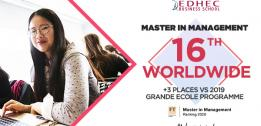 FT Master in Management 2020 ranking : EDHEC's MIM continues its progression in the world's Top 20 to be ranked 16th worldwide